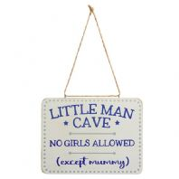 'Little Man Cave'  Hanging Sign